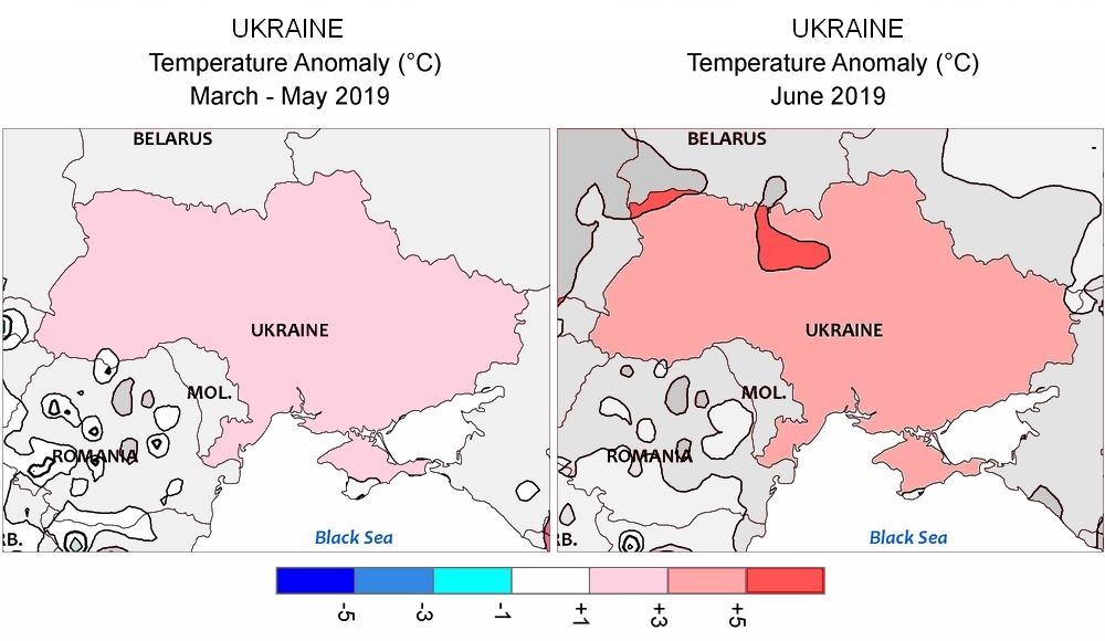 EU, Africa, China, California: Weather situation since March